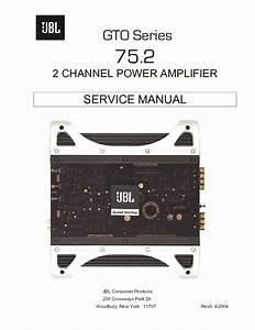 Jbl Gto 75 2 Service Manual  U2014 View Online Or Download