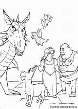 Shrek Coloring Pages Printable Dibujos Colorear Para sketch template