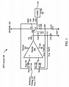 patent us7705600 voltage stress testing of core blocks With the voltage regulator with a field effect transistor