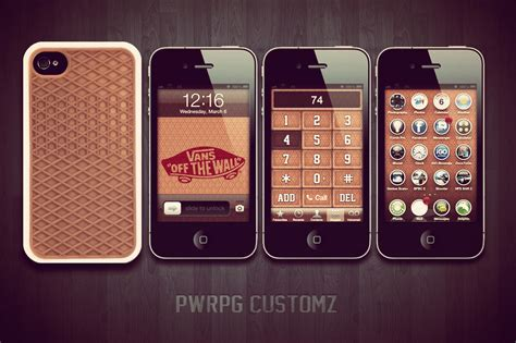 Iphone 4 Vans Customz (dialer, Lock Screen,...) By Pwrpg