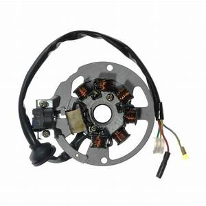 7 Coil Magneto Stator With 3 2 Wiring Connector For 1pe40qmb Minarelli Yamaha Jog Style Scooter