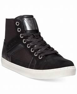 Guess Toledo Hi-top Sneakers in Black for Men   Lyst