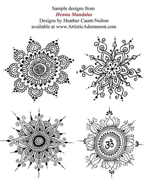 Henna Mandalas ebook Mehndi pattern book with от