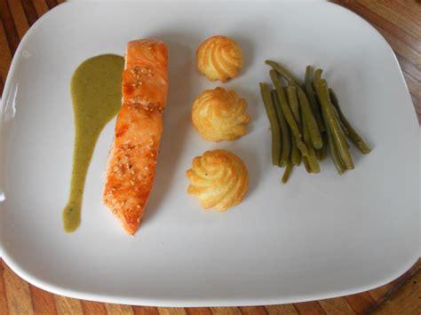 cuisine et voyage pavés de saumon sauce matcha gourmandises cuisine et