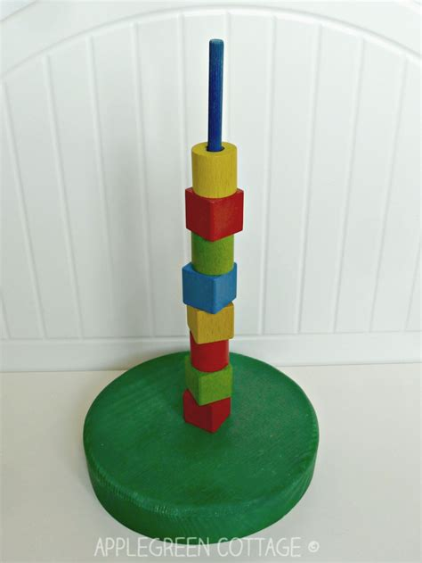 easy diy wooden stacking toy applegreen cottage