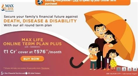 ^ on payment of additional premiums. Is Max Life Insurance different from other insurance companies in terms of service and benefits ...