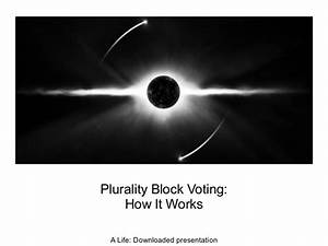 Plurality Block Voting - How It Works