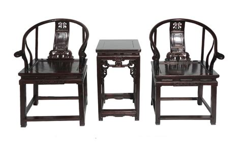 Antique Chinese Huali Armchair & Side Table Set