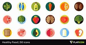 Healthy Food 50 free icons (SVG, EPS, PSD, PNG files)