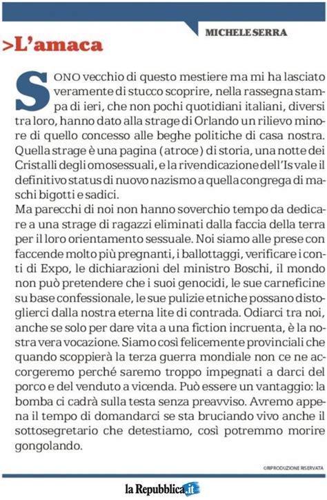 Amaca Di Serra by L Amaca Di Oggi Di Michele Serra Scoopnest