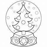 Globe Coloring Snow Globes Drawing Printable Plow Truck Tree Template Winter Seuss Hat Dr Colouring Embroidery Getdrawings Snowman Straccia Icolor sketch template