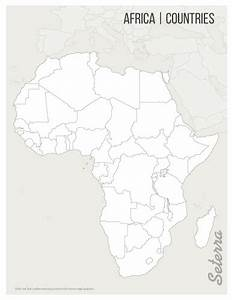 Africa: Countries Printables - Map Quiz Game