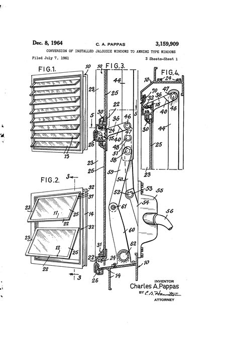 patent  conversion  installed jalousie windows  awning type windows google patents