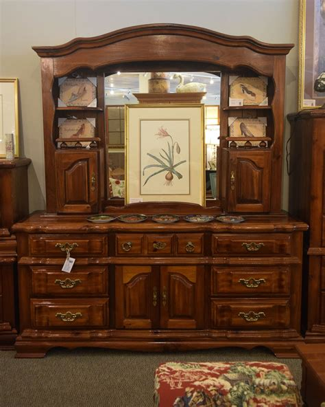 pine dresser wmirror hutch  england home furniture