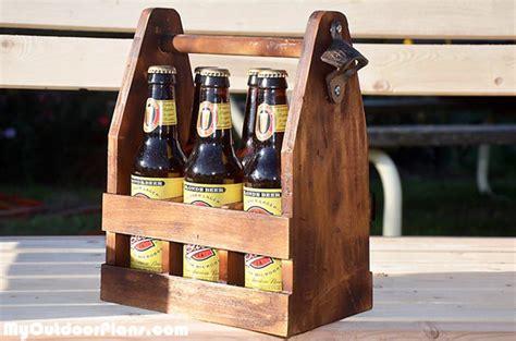 diy beer caddy myoutdoorplans  woodworking plans