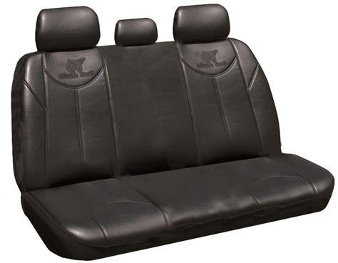 black bull leather  seat covers universal rear ilana