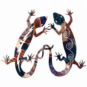 lizard tango metal wall art With kitchen cabinets lowes with gecko metal wall art