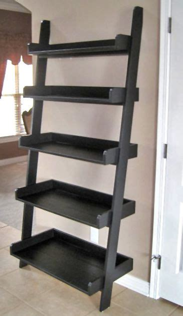leaning wall shelf free ladder shelf plans woodworking projects plans