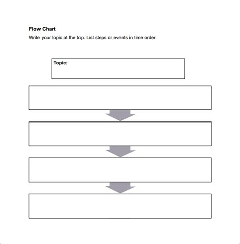 sample flow chart template  documents   excel