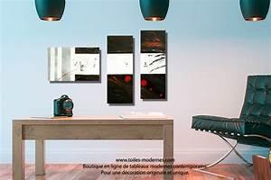 Tableau Deco Noir Et Blanc : tableau dessin graphique noir blanc triptyque abstrait panoramique d co minimaliste ~ Teatrodelosmanantiales.com Idées de Décoration