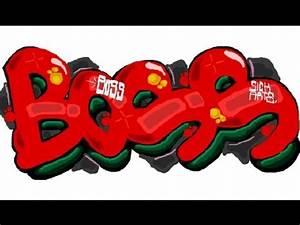 How to Draw Graffiti Boss - YouTube