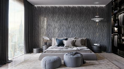 pareti stanza da letto stanza da letto moderna con parete di design speciale