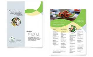 winery wedding food catering brochure template design