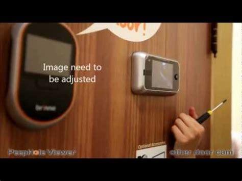 brinno peephole camera  door camera installation