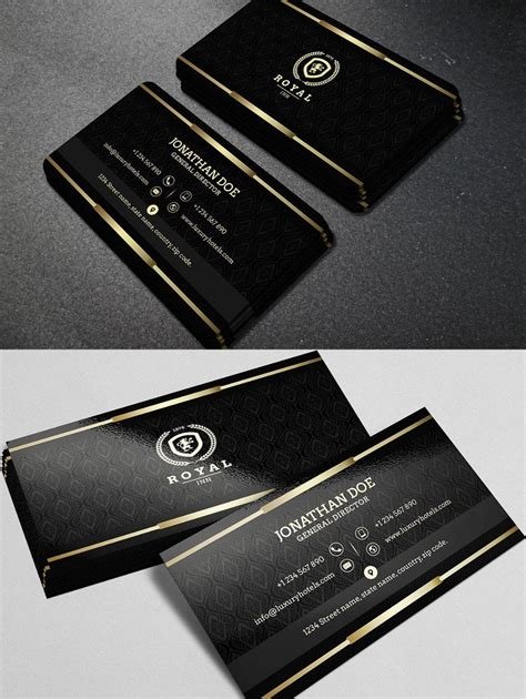 Gold And Black Business Card TemplateBusiness Card