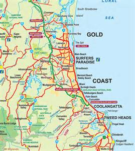 Gold Coast Australia Map