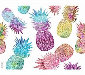 Watercolor Pineapples 24 oz Double Wall Tumbler with Lid