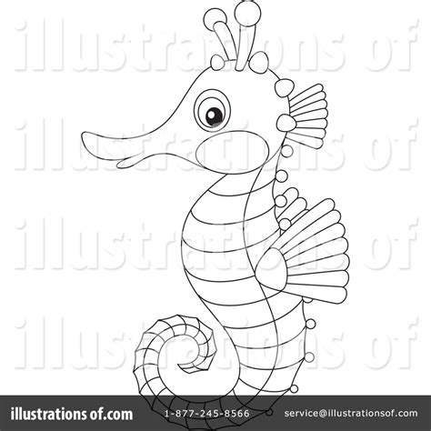 seahorse clipart black and white seahorse clipart 1240870 illustration by alex bannykh