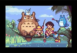 Retronator      Studio Ghibli Pixel Dailies By Albertov I U2019ve