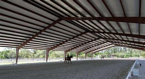 Prefabricated Metal Horse Barns & Steel Riding Arenas