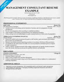 management consulting resume sles resume exles consulting sle resume