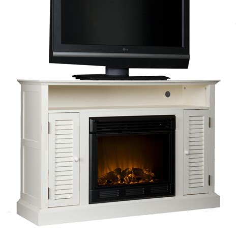 electric fireplace media cabinet amazon com sei antebellum media console with electric