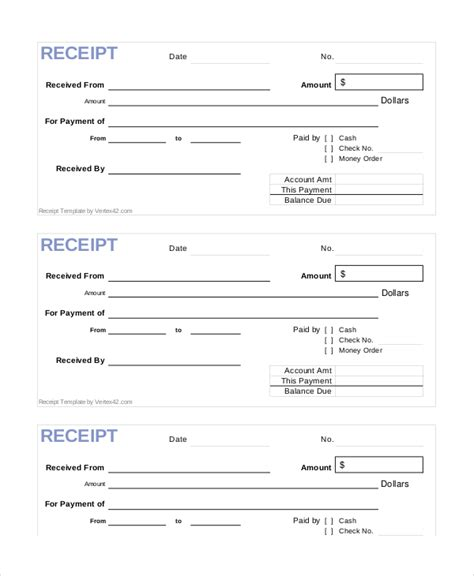 blank receipt template receipt template 15 free word pdf documents free premium templates