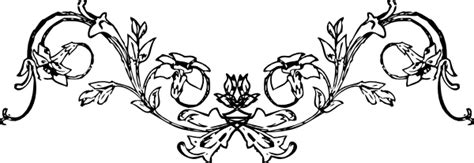 mirrored flower frame clip art  clkercom vector clip
