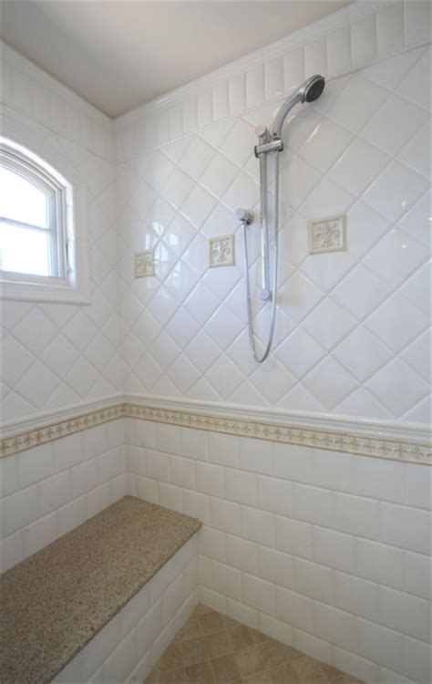 tan  white bathroom shower modern bathroom san