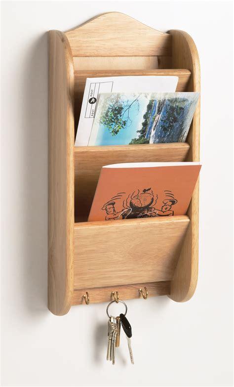 Fox Run Wood Letter Key Rack Holder Kitchen Home Mail