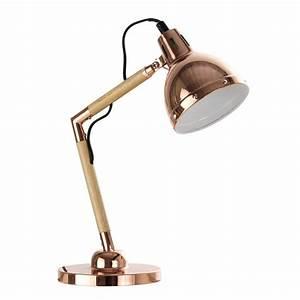 Lampe De Bureau Fille : lampe de bureau en m tal cuivr h 34 cm vanite maisons ~ Melissatoandfro.com Idées de Décoration