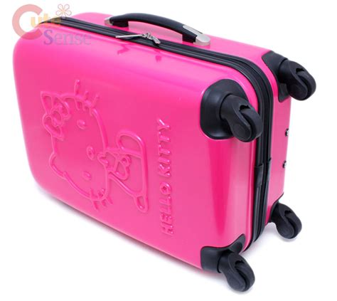 Koper Trolley Hello Hotpink sanrio hello luggage trolley bag abs 20 034