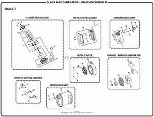 Homelite Bm903600  Bm903611 Generator Mfg  No  090930291