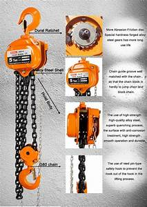 Small Hand Pull Manual Chain Block   5 Ton Manual Chain Hoist