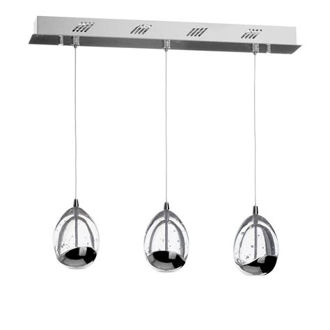 tegg pendant ceiling 3 light led cluster bar chrome from
