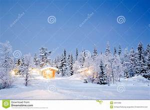 Winter Landscape Night Stock Photography - Image: 34975982