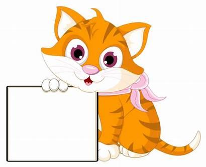 Cat Holding Clipart Clip Gifs Pancarte Centerblog