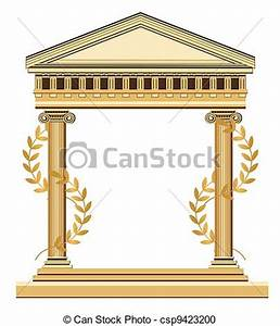 Vector Clipart of Antique Greek Temple - Illustration of ...