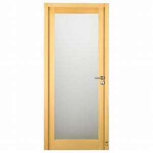 porte d39interieur bois claudel vitree pasquet menuiseries With porte de garage enroulable avec porte intérieure vitrée bois