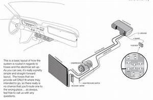 Universal 12v A  C Ac Kit Underdash Evaporator Compressor